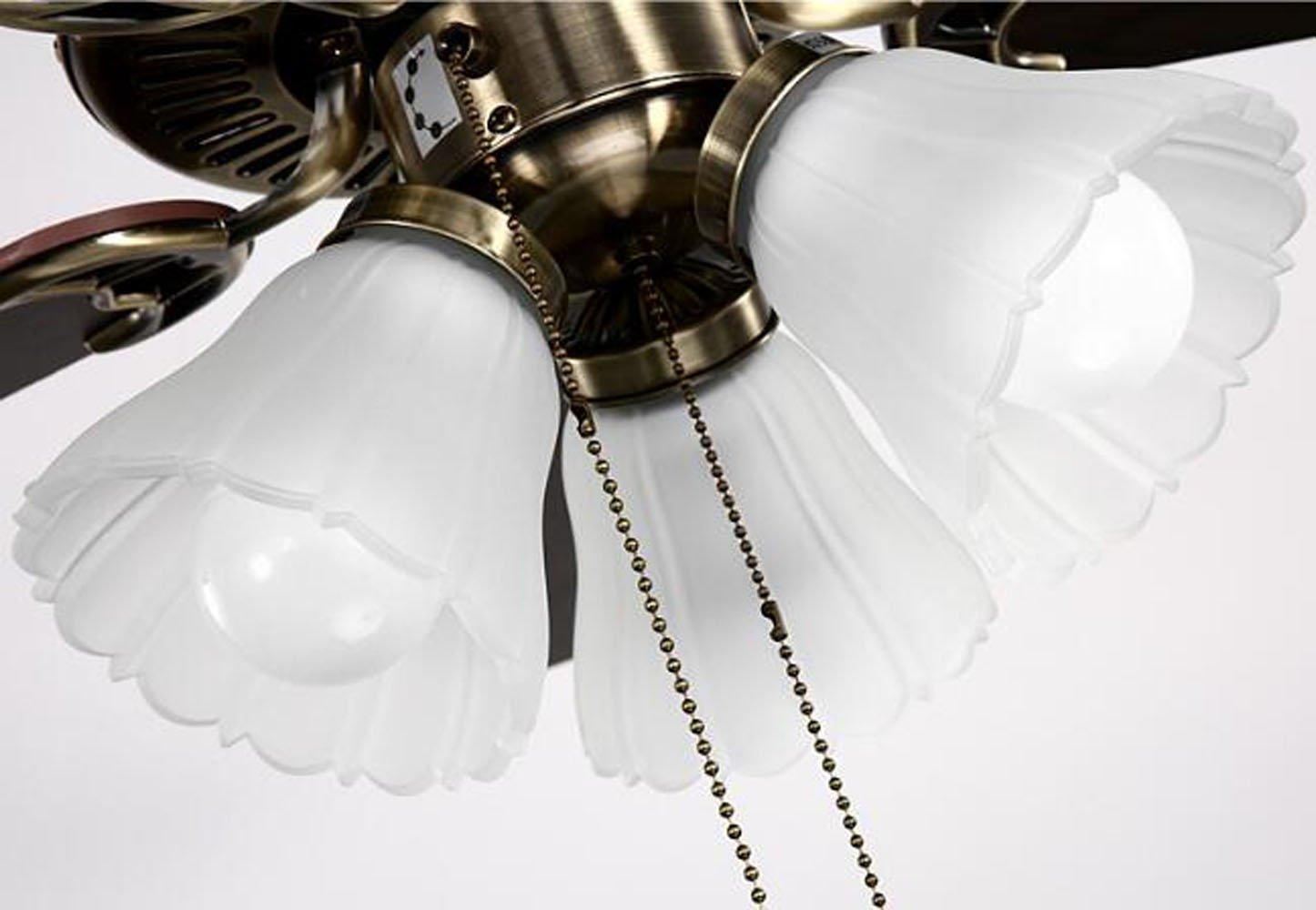 Huston Fan Modern Simple 42-inch Ceiling Fan Lamp Living Room Home LED Llights Ceiling Fan Chandelier Bronze Fan by Huston Fan (Image #4)