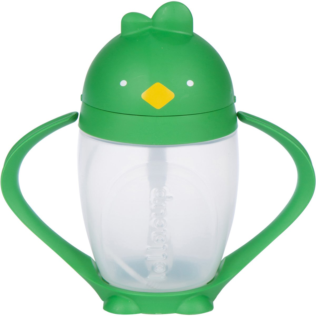 Lollaland Lollacup, Green   10 oz Straw Sippy Cup with Weighted Straw Made in USA