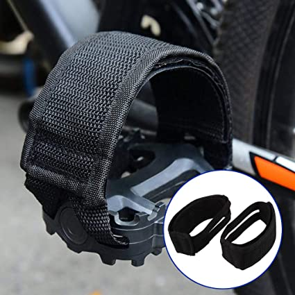 Black Pure Fix Bicycle Pedals with Cages and Straps