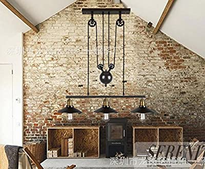 GAO Chandelier American Creative Personality Retro Chandeliers Industrial Style Bistro Style Restaurant Bar 3 Lift/Lower Lamp