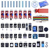 Quimat 37-in-1 Sensor Modules Kit for Arduino R3 Mega2560 Mega328 Nano and Raspberry Pi (Upgraded Version)