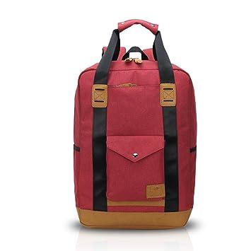 FANDARE Mochila para Ordenador portátil de hasta 16 Pulgadas Mochilas de Marcha Impermeable Viaje Casual Nylon Rojo: Amazon.es: Equipaje