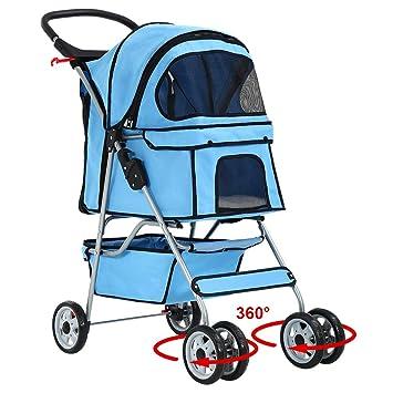 Amazon.com: bestpet 4 ruedas carrito de mascota gato jaula ...