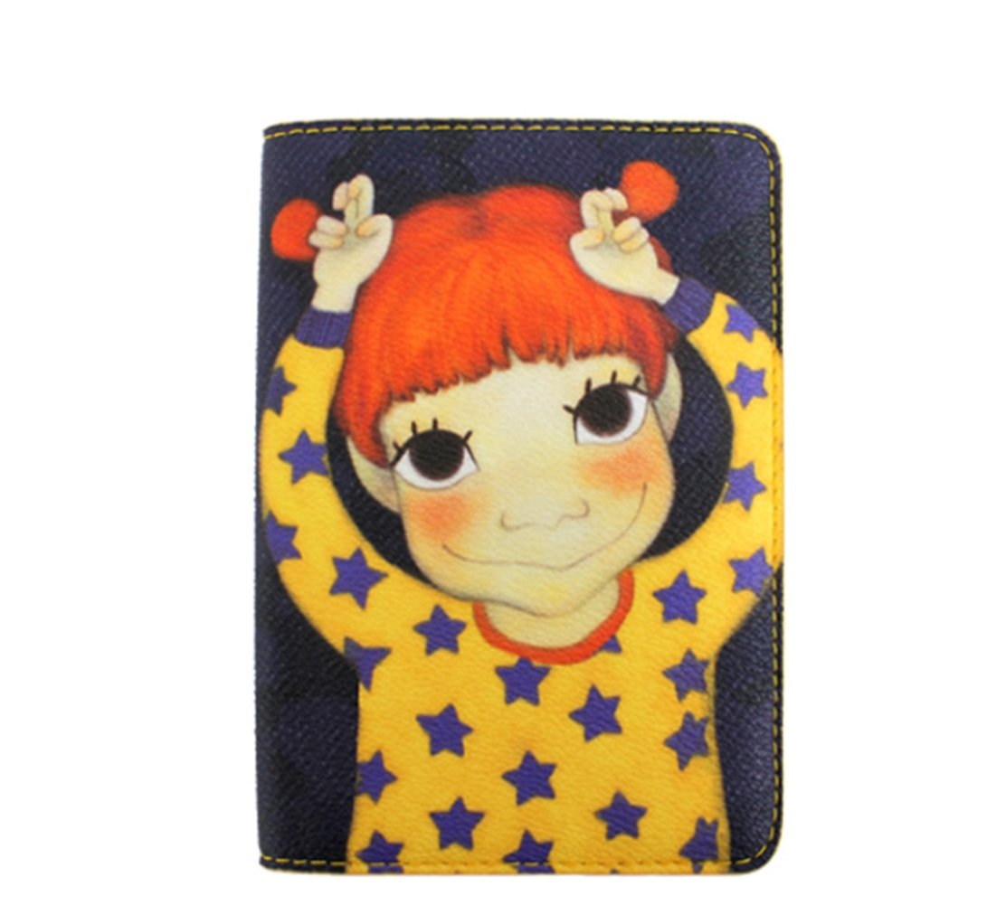 [Youk Shim Won] YSW, Ivy Leather Passport Wallet, Gaeddong #D1092GDCM0F, Korean Artist Design
