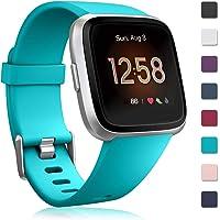 Zekapu Bandje Compatibel met Fitbit Versa/Fitbit Versa 2, Vervangende SportarmBandje Siliconen PolsBandje voor Slim Horloge Fitbit Versa/Fitbit Versa 2, Klein Groot Vrouwen Mannen
