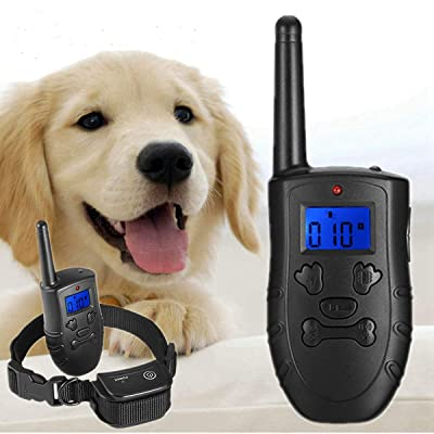 UL Pet Dog Rechargeable Trainer Waterproof Stop Barking Collars Remote Dog Training Collar