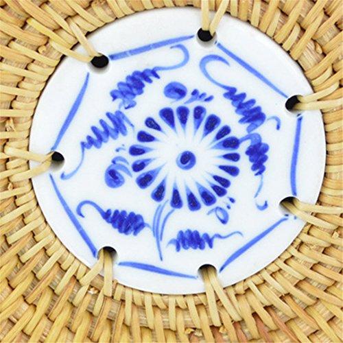 Tricoté Paille Fourre KHUSIG Main La Femme Sac Tout Sac Cercle Main À Design Été Rotin Porcelaine Sac À Femmes SS3014 À Main Plage Voyage Lady Sac 5ArAU