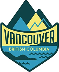 Vagabond Heart Vancouver British Columbia Weatherproof Vinyl Sticker