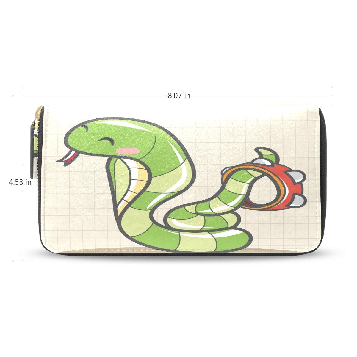 b2f0a9dc11fb Yochoice Women Lady Wallet,Cartoon Music Snake,Purse Credit Card ...