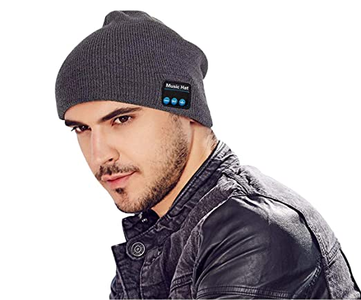 35052ab21f6 Bluetooth Beanie Hat Headphones Upgraded V4.2 Wireless Smart Beanies  Headset Winter Music Hat Knit