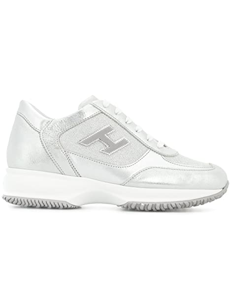 Hogan - Zapatillas para Mujer Plateado Plata IT - Marke Größe, Color Plateado, Talla 38.5 IT - Marke Größe 38.5: Amazon.es: Zapatos y complementos