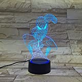 3D Night Lamp night light Desk Lamp - 7 LED Light Colors Optical Illusion - Decorative lamp for your bedroom office - Soft Glow - For kids and adults - Cool light -Safe for kids (Spider-man)