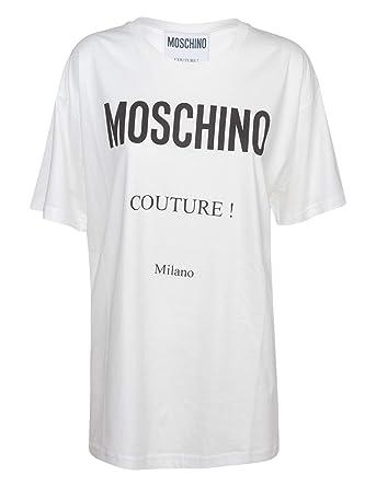 474d9ff4c554 Moschino Damen A070255401002 Weiss Baumwolle T-Shirt  Amazon.de ...
