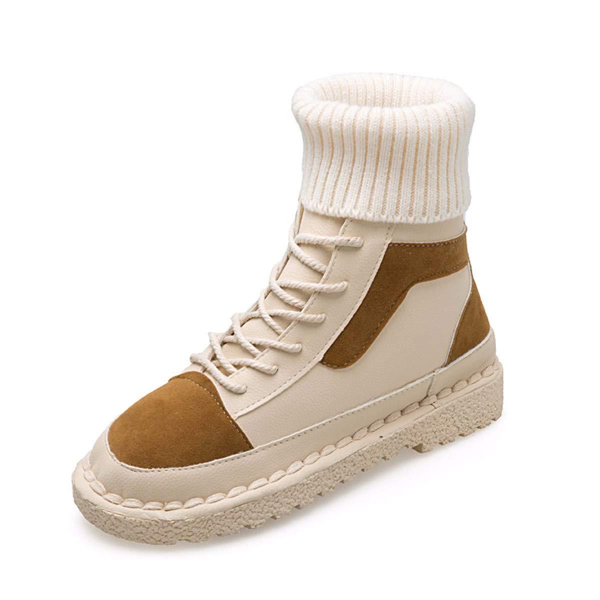 KPHY Damenschuhe Martin Stiefel Sport Hohe Hohe Hohe Schuhe Wilde Stiefel Kurze Stiefel SAMT Flachen Boden Stiefeln Frauen - Stiefel. f5d8ac