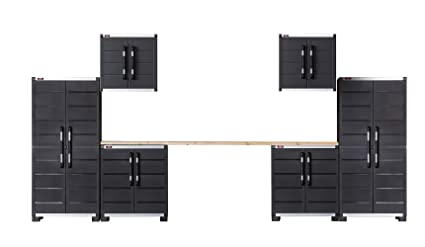 Keter Ready To Assemble XL Pro Garage System Utility Tool Storage Cabinets  (Set Of 6