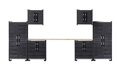 keter ready to assemble xl pro garage system utility tool storage cabinets set of 6