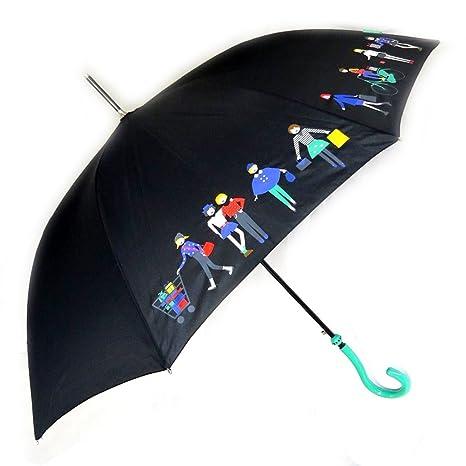 Paraguas de caña Joy Heartverde oscuro ...