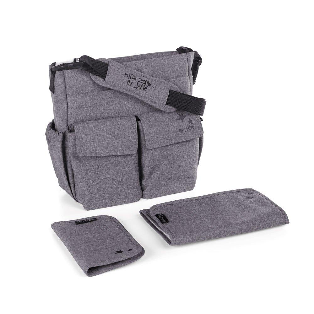 Janè Borsa Fasciatoio Mama Bag Jet Black (grigio)