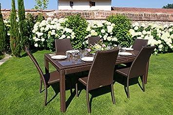 Amazon De Luxurygarden Tisch Mit Stuhle Gartentisch Ausziehbar