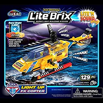 Amazon.com: Lite Brix Light & Sound Copter: Washington ...