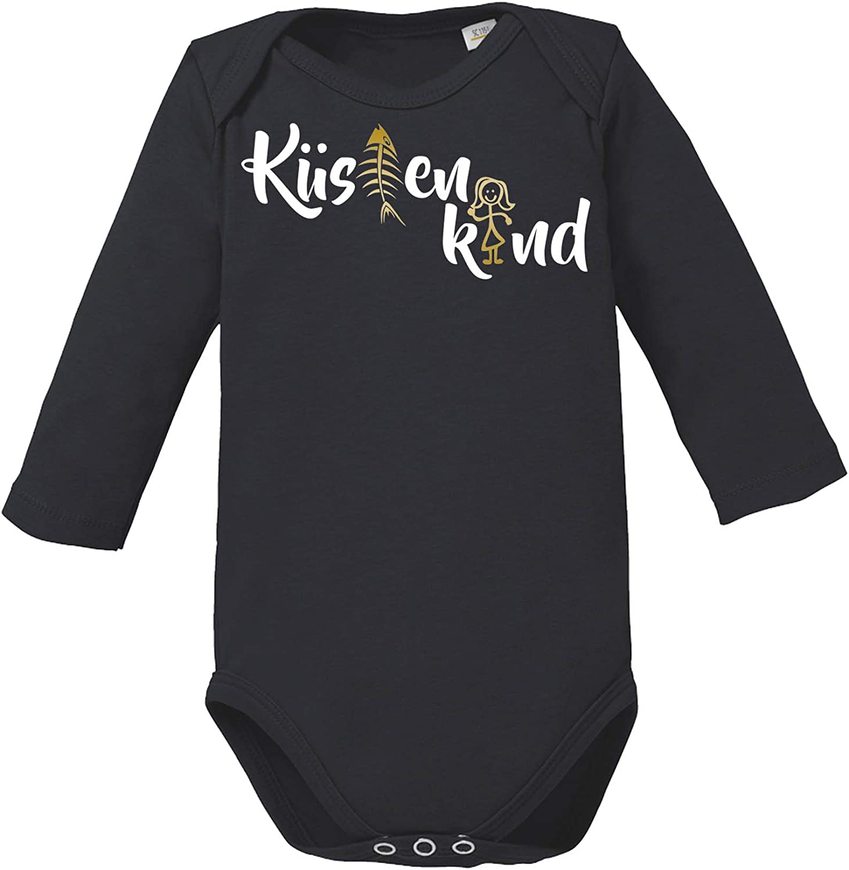 Rundhals Comedy Shirts Baby Langarm Body 100/% Baumwolle K/üstenkind Langarm Basic Print-Body