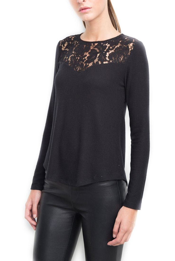Generation Love Women's Ainsley Open Back Lace Top - Black - XS by Generation Love (Image #1)