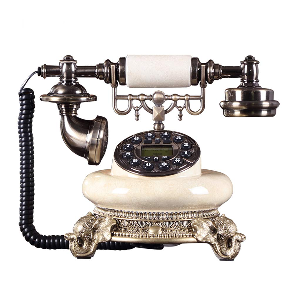 Telephone Retro Home Fashion Creative Office Cable Fixed Antique Telephone Landline by Telephone