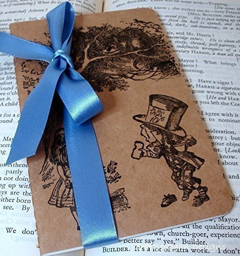 Amazon Alice in Wonderland Notebook Alice and Mad Hatter – Lined Paper to Type on