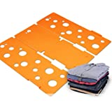 BoxLegend Clothes/T Shirt Folder Plastic 4mm Thickness Shirt Folding Board Easy and Fast Laundry Folder (Orange)