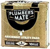 McAirlaid's 867947000001 Plumber's Mate Absorbent Utility Pads, 10-Pack