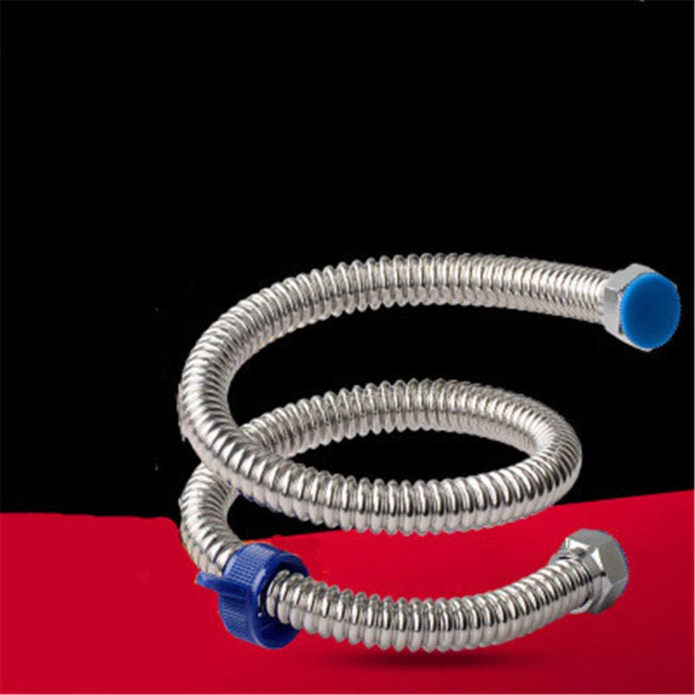 soffietto duro 0,1 M 0,2 M 0,3 M 0,4 M 0,5 M 0,6 M 0,8 M 1 M 1,2 M 1,5 M 1,5 M tubo flessibile doccia in acciaio inox nodo flessibile anti-nodo con 2 rondelle a 40 cm/_