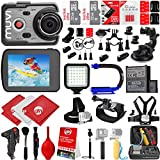 VEHO MUVI K-Series K2 Pro 4K Wi-Fi Sports Action Camera w/ 64GB 28PC Bundle - Window Mount - Helmet Mount - Opteka X-GRIP Action Handle - High Power LED Video Light and MUCH MORE