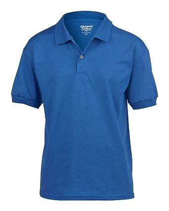 8283144ae0a Gildan Childrens School Wear Uniform Kids Plain Piqué Jersey Polo Shirt:  Amazon.co.uk: Clothing