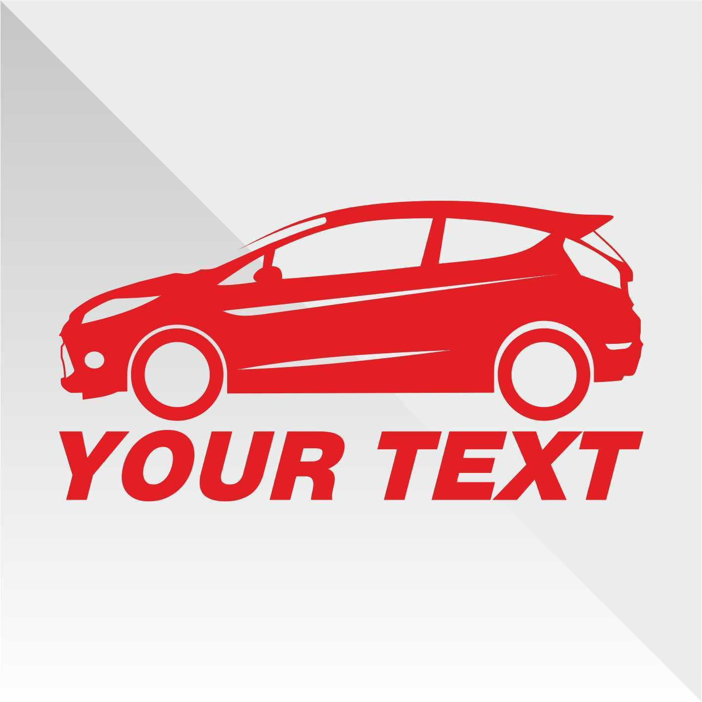 Erreinge Sticker Ford Fiesta Rosso Red Rouge Rojo Rot Down