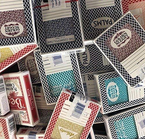 JUSTMIKEO 4 Random Las Vegas Casino Used Playing Cards Deck -