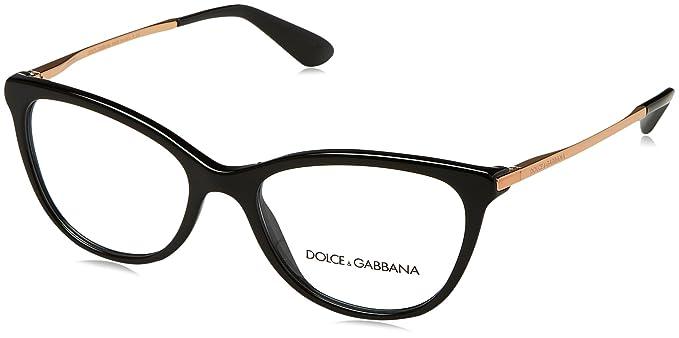 Amazon.com: Dolce & Gabbana Mujer dg3258 anteojos, 52/17/140 ...