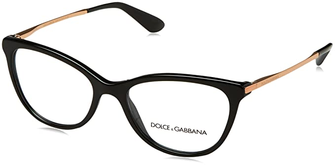 8068fdd3386 Amazon.com  Dolce Gabbana DG3258 Eyeglass Frames 501-52 - Black ...