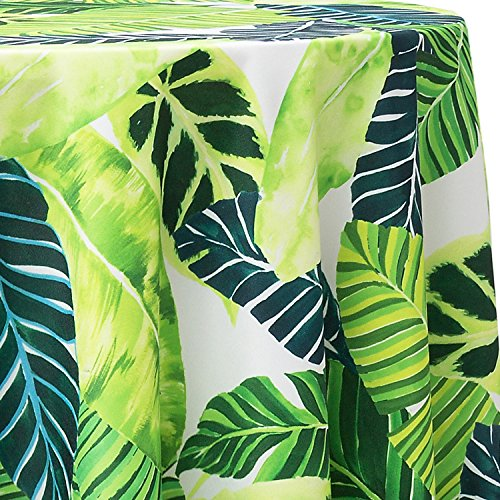 (Ultimate Textile Tropical Fern 96-Inch Round Patterned)