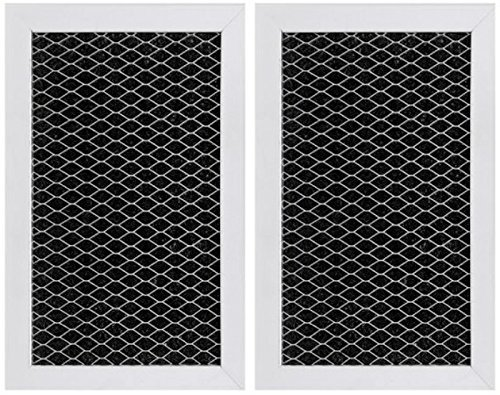 GE JX81J, WB02X11124, WB06X10823, Microwave Recirculating Charcoal Filter (2-Pack) (Microwave Kit Filter Charcoal Ge)