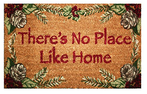 Park Designs 878-27 Holiday Collection No Place Like Home Doormat (Season Placemat)