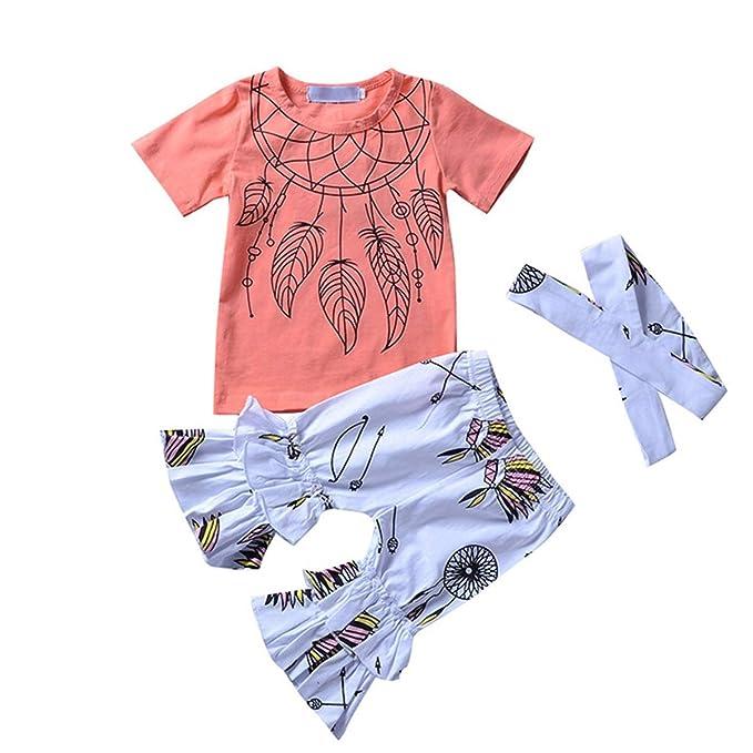 Amazon.com: Aisheny Juego de ropa para bebé, 3 piezas ...