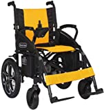 2018 NEW Comfy Go Electric Wheelchair - Foldable Lightweight Heavy Duty Lithium Battery Electric Power Wheelchair (Yellow)