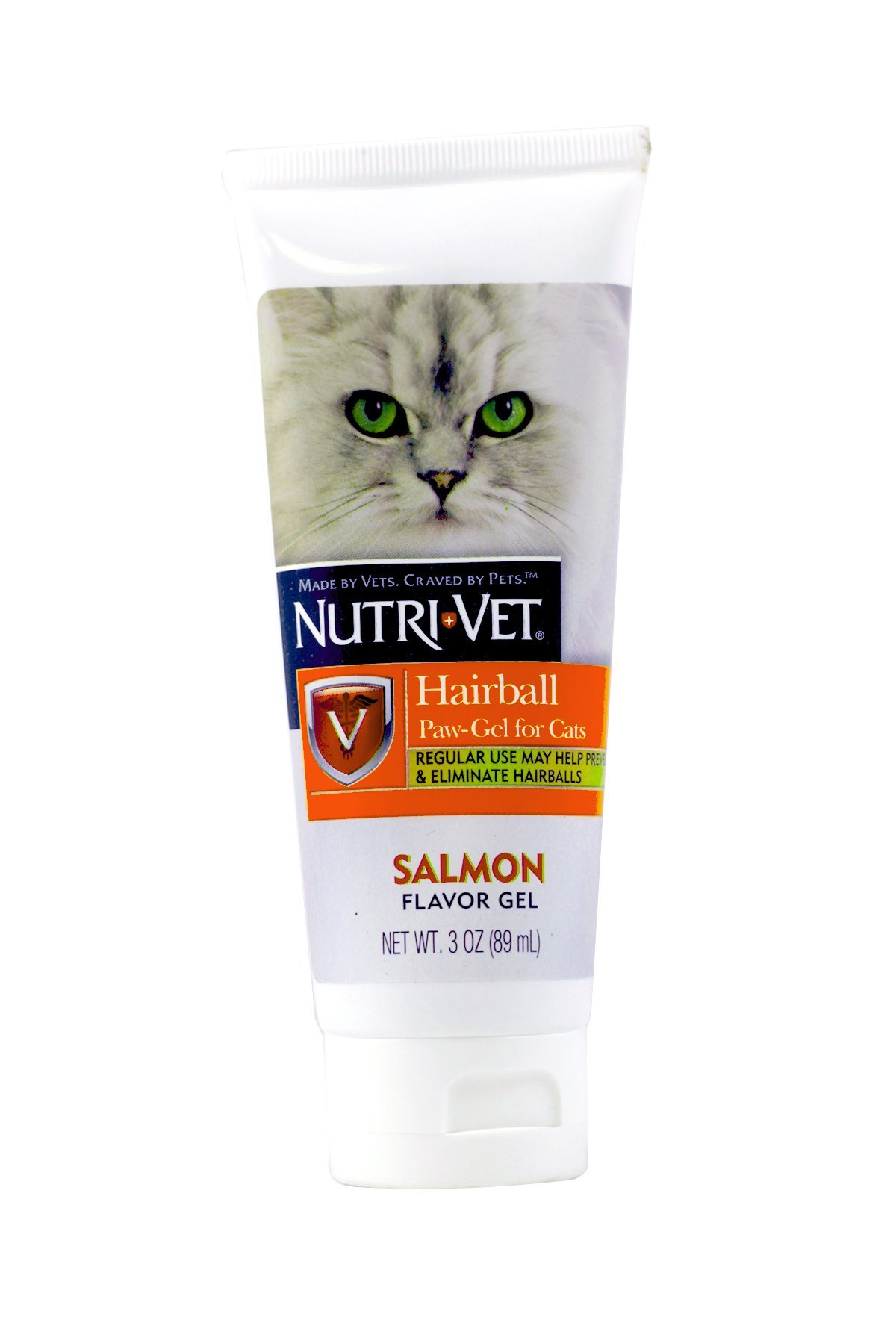 Nutri-Vet Cat Hairball Support Paw Gel   Hairball Remedy for Cats   Tasty Salmon Flavor   3 Ounce Tube