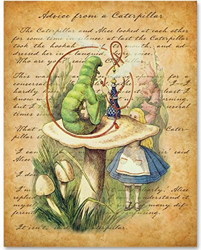 chapter-v-advice-from-a-caterpillar-11x14-unframed-alice-in-wonderland-print