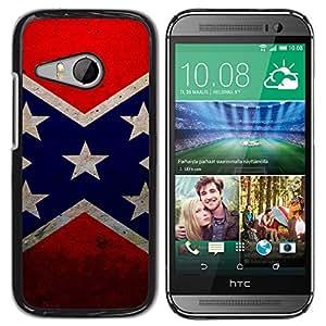 LECELL--Funda protectora / Cubierta / Piel For HTC ONE MINI 2 / M8 MINI -- La bandera de la estrella --