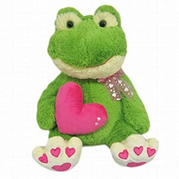 valentines day giant green frog stuffed animal 19 plush love froggy