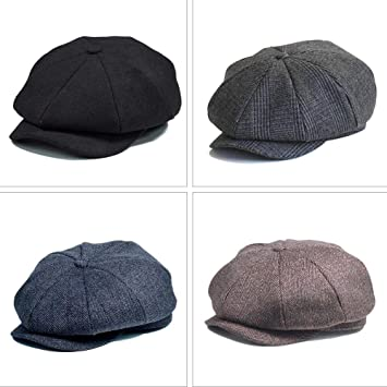 Sombrero Para Hombre Baker Boy Newsboy herringbone Flat Cap Gorra ...