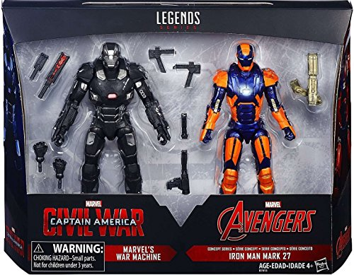 "6"" Marvel Legends 2016 2 Pack Civil War War Machine Iron Man Mark 27"