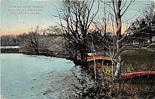 Lake Waban at Wellesley College Wellesley Massachusetts Postcard
