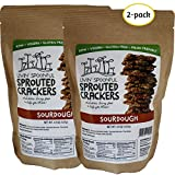 Raw Sprouted Crackers, 4.5 Oz, Sourdough, (2-pack)
